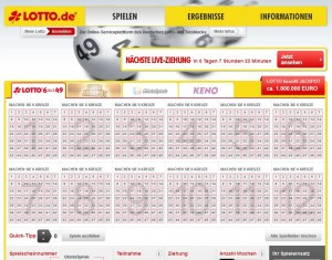 Screenshot lotto.de